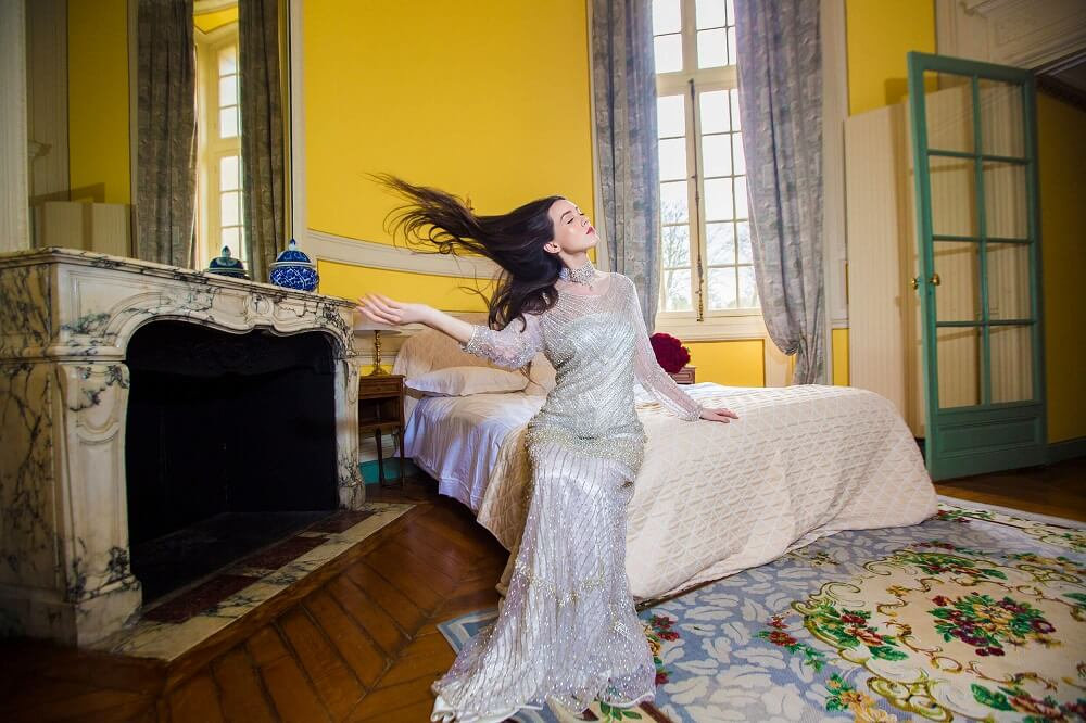 shooting mode Chateau robe de soirée