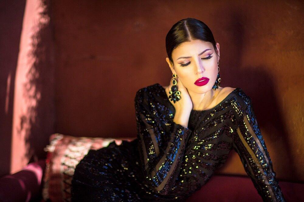 photographie mode portfolio shooting marrakech robe de soirée